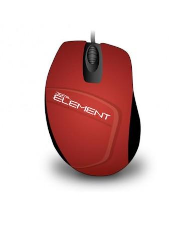 Ενσύρματο Ποντίκι Element MS-30R Κόκκινο