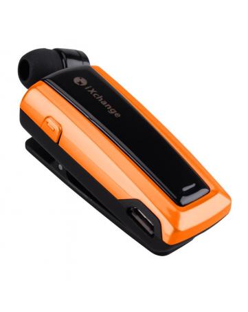 Bluetooth headset με πτυσσόμενο ακουστικό iXchange UA24 πορτοκαλί