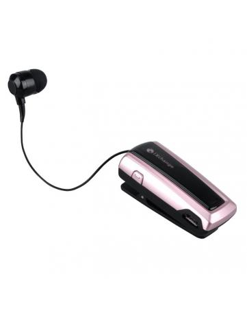 Bluetooth headset με πτυσσόμενο ακουστικό iXchange UA24 ροζ χρυσό