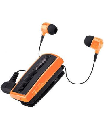 Bluetooth headset με πτυσσόμενο ακουστικό και δόνηση iXchange UA28 πορτοκαλί