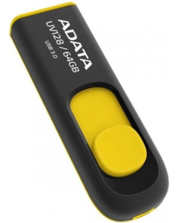 Usb flash drive Adata dashdrive 32GB UV128 black/yellow usb 3.2