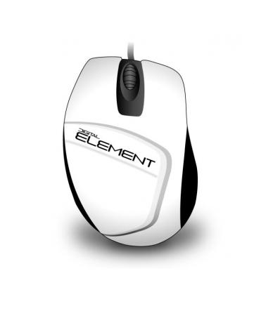 Ενσύρματο Ποντίκι Element MS-30W Λευκό