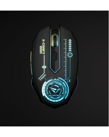 Ενσύρματο ποντίκι gaming Alcatroz x-craft 1000 trek + δώρο mousepad 230x190mm