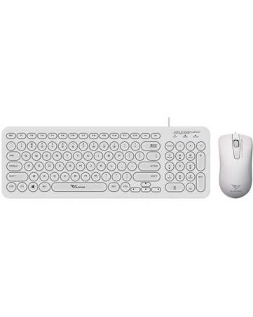 Ενσύρματο σετ πληκτρολόγιο και ποντίκι Alcatroz Jellybean U2000W λευκό
