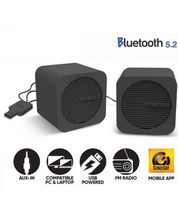 Ηχεία Bluetooth 5.2 Sonic Gear Blue Cube Μαύρα