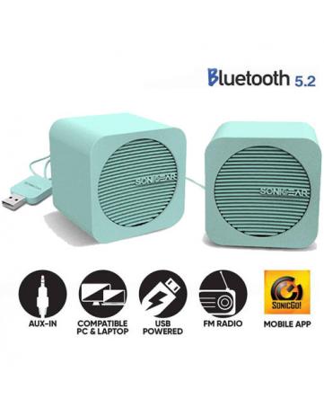Ηχεία Bluetooth 5.2 Sonic Gear Blue Cube Πράσινα