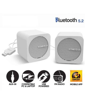 Ηχεία Bluetooth 5.2 Sonic Gear Blue Cube Λευκά
