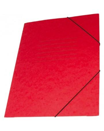 Φάκελος Πρεσπάν Α4 με λάστιχο - Κόκκινος