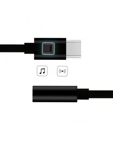 Αντάπτορας type-C σε jack 3.5mm μαύρος