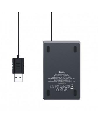 Baseus Ultra Thin ασύρματος φορτιστής Qi Charge 15W με Καλώδιο USB WX01B-01 μαύρος