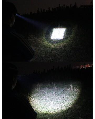 Επαναφορτιζόμενος LED φακός κεφαλής T6 με LED zoom μαύρος