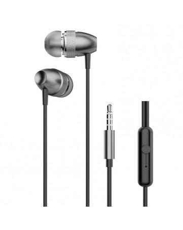 Handsfree ακουστικά με σύνδεση jack 3,5mm και ενσωματωμένο μικρόφωνο Dudao X2Pro γκρι