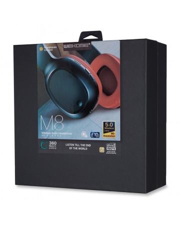Ασύρματα ακουστικά bluetooth 5.0 WK M8 κόκκινα