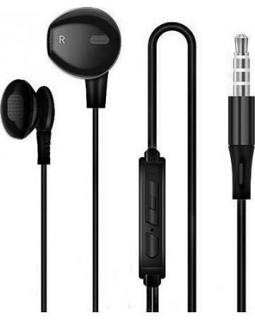 Handsfree ακουστικά με σύνδεση jack 3,5mm και ενσωματωμένο μικρόφωνο Earldom ET-E8 μαύρα