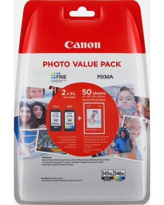Canon VP PG-545 XL & CL-546 Tri-Color & Photo paper (8286B006)