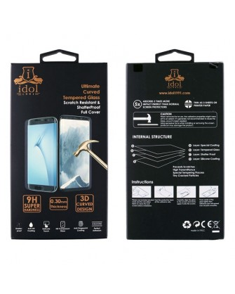 """Idol 1991 Tempered Glass iPhone XR 6.1"""" 9H 0.25mm 5D Full Glue Special Full Cover Black"""