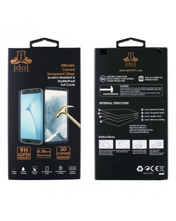"Idol 1991 Tempered Glass iPhone XR 6.1"" 9H 0.25mm 5D Full Glue Special Full Cover Black"