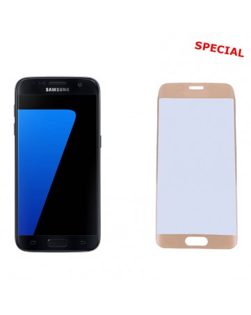 """Idol 1991 Tempered Glass Samsung S7 G930 5.1"""" 9H 0.25mm 3D Semi Curved Gold"""