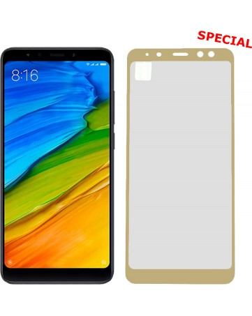 """Idol 1991 Tempered Glass Xiaomi Redmi 5 Plus 5.99"""" 9H 0.25mm 2.5D Special Full Cover Gold"""