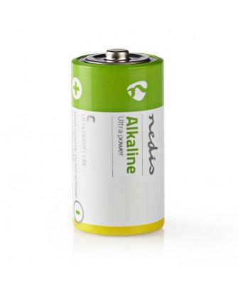 Αλκαλικές μπαταρίες LR14 C, 1.5V σε blister 2 μπαταριών - NEDIS BAAKLR142BL