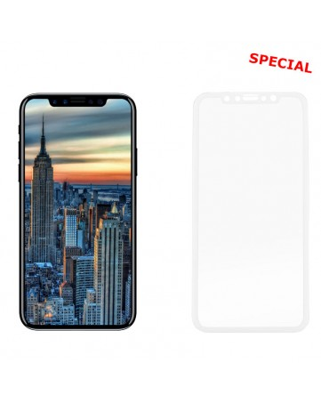 "Idol 1991 Tempered Glass iPhone XS/X 5.8"" 9H 0.25mm 3D Full Glue Special Full Cover White"