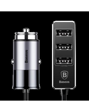 Baseus Enjoy Together Four Interfaces Output Patulous Car Charger Grey - CCTON-0G