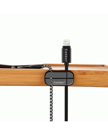 Cable Clip διαχείρισης καλωδίων - Eearldom EH-31 Black