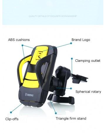 Βάση στήριξης κινητών για το αυτοκίνητο κίτρινη - Remax RM-C03