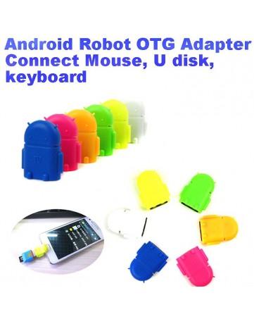 Adapter USB F σε Micro USB OTG Ροζ - OEM 694