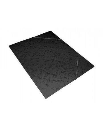 Φάκελος Πρεσπάν Α4 με λάστιχο -  Μαύρος