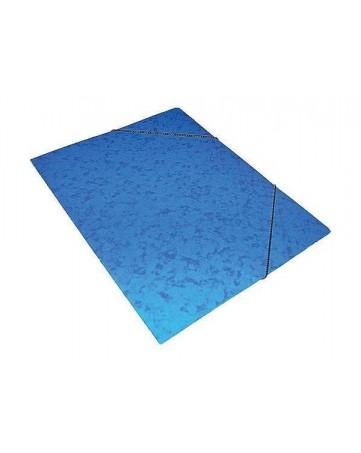 Φάκελος Πρεσπάν Α4 με λάστιχο -  Μπλε