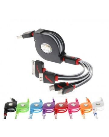 Καλώδιο φόρτισης flat 1m usb σε iPhone 30-pin/lightning/micro usb - Oem 284