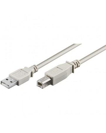 Καλώδιο Εκτυπωτή USB A σε USB B 1.5m λευκό - OEM 554