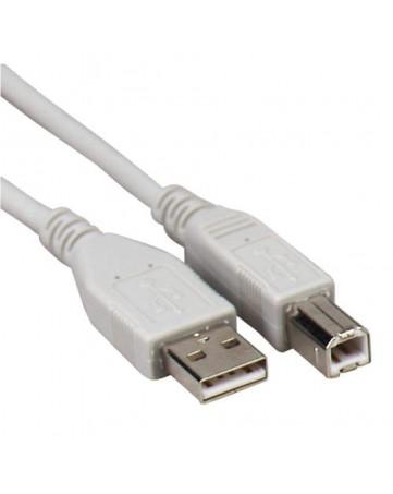 Καλώδιο Εκτυπωτή USB A σε USB B 3m λευκό - OEM 632